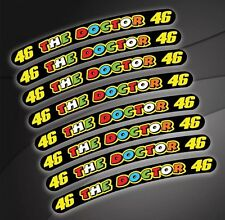8 x Motorbike Wheel Rim Decal Stickers Rossi Yamaha Honda Suzuki Kawasaki Ducati