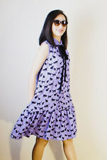 Kate Spade Blue Cats And Cream Side Pockets Tiered Dress sz  2-4  ~ NWT ~