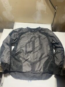 Icon D3O Men's Leather Textile Jacket for Motorcycle Street Track Riding Sz M C8