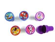 5PCS DISNEY MICKEY MOUSE SELF INK STAMPS STAMPER KIDS STATIONERY PARTY BAG #B