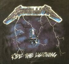 METALLICA 🔥 Ride The Lighting XXL/2XL T-Shirt Metal Band Concert Tour Rock 90s