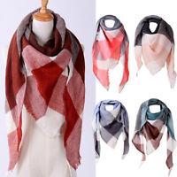Fashion Charming Scarves Women Shawl Cashmere Autumn Plaid Wool Scarves Scarf AU