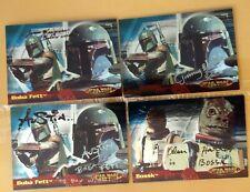 Topps Star Wars Evolution Autographed Bounty Hunter Card Lot Boba Fett & Bossk