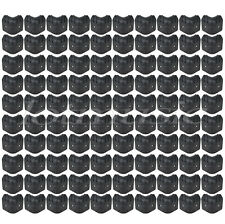 100pcs Black Plastic Guitar Amp Amplifier Speaker Cabinet Corner Protectors L