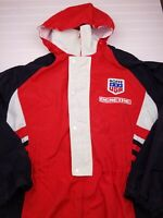 Men's Roffe Demetre Skiwear Jacket USA red white black large Pantera hooded HU