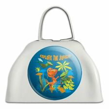Explore the Jungle Dinosaur Train White Metal Cowbell Cow Bell Instrument