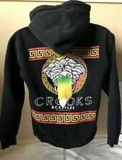 Crooks And Castles Zip Up Hoodie Sweatshirt Black Size SMALL Medusa