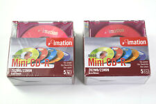 New Imation Mini Disks CD-R  2 - 5 Pack Lot With Neon Jewel Cases