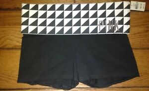 Victoria's Secret VS Pink Yoga Shortie Shorts Geometric black white Band- XS