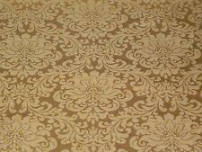 YELLOW GOLD FLORAL DAMASK DRAPERY UPHOLSTERY FABRIC Jacquard Traditional Elegant