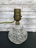 """Vtg Quilted Glass Boudoir Lamp Night light 6 3/4"""""""