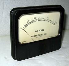 Vintage Rare General Electric A-C Volts 0-150 Type Ao-58 Model 8Ao58V Ct42