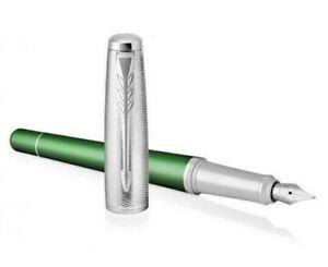 BNIB Parker Urban Premium Fountain Pen  Green   Medium Nib  Gift Boxed   RRP £67