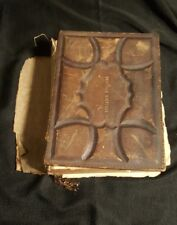 Antique 1876- Holy Bible New Old Testaments Illustrated Descriptive Engraving