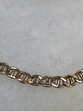 """375 9CT Gold 7"""" Long 3mm Wide Mariner Anchor Chain Bracelet"""