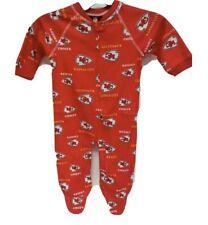 NEW Newborn NFL Kansas City Chiefs Sleepwear  Size Small 6-9 Month BoysNWT