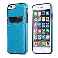 iPhone 6 6S LEATHER CASE LUXURY WALLET COVER with CREDIT CARD ID SLOTS