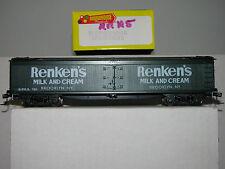 Roundhouse Ho scale 3615 50' Express Reefer Renken's Milk Upraded!