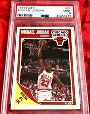 1989 FLEER MICHAEL JORDAN SCORING LEADERS #21 PSA 9