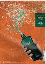 Publicité Advertising 2004 Eau de Toilette Concentré d'Orange Verte Hermès