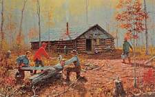 New York, Adirondack Museum, Blue Mountain Lake, lumberjacks