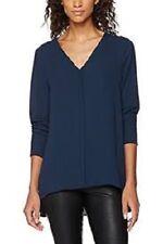 Selected Femme Saphire blue Blouse Drop Hem Concealed Buttons Size 38 rrp £45