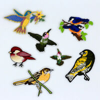 7PCS Mix bird Embroidery Sew Iron On Patch Badge Bag Clothes Fabric Applique NEW