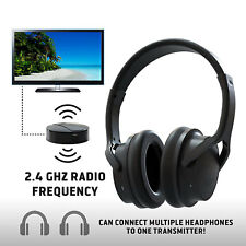 Sharper Image OWN ZONE Wireless Rechargeable TV Headphones RF Connection 2.4 GHz