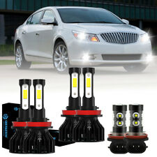 For Buick LaCrosse 2010-2013 6x 6500K LED Headlight Hi/Lo beam + Fog Light Bulbs