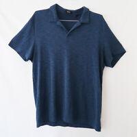 Theory Mens XL Blue Short Sleeve Polo Shirt