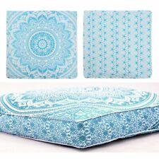 Indian Mandala Cotton Floor Pillow Square Cushion Cover Meditation Ottoman Cover