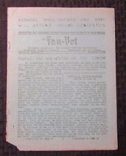 1951 FAN-VET Science Fiction Fanzine v.1 #11 VG- Weisinger Mines Fairman Bixby