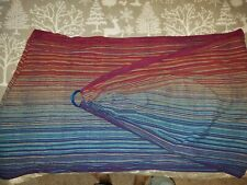 Girasol Red/Blue Luscious Rainbow Wrap Conversion Ring Sling