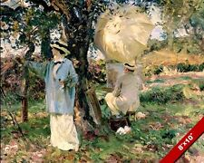 MAN & WOMAN COUPLE ARTISTS SCENE SARGENT OIL PAINTING ART PRINT ON REAL CANVAS