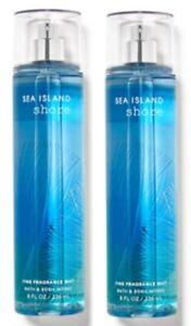 LOT OF 2 - Bath & Body Works SEA ISLAND SHORE 8 oz FINE FRAGRANCE MIST SPRAY