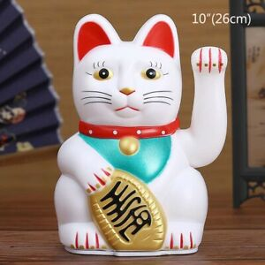 "5"", 6"",7"",10"" Feng Shui Beckoning Waving Wealth Prosperity Cat Kitty MANEKI NEKO"