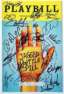 Cast Lauren Patten, Elizabeth Stanley Signed JAGGED LITTLE PILL Playbill