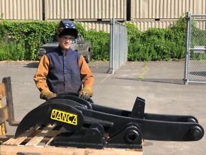 Manca Thumbs 24/'/'x42/'/' Universal Weld on Hydraulic Excavator Thumb!
