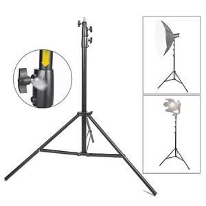 Studio Light Stand 3m Heavy Duty Air Cushioned Adjustable Professional Tripod UK