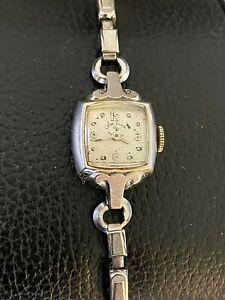 Vintage Lady Elgin 21 Jewels 14 K Gold Watch - Nonworking -Parts/Repair - g