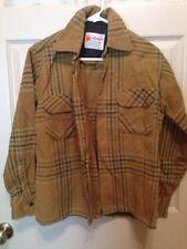 Mac Campbell  Shirt Vintage Wool Tan And Green Size Small Mens 1940s