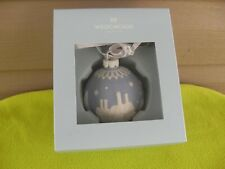 Wedgwood Blue Jasperware Ball English Countryside Ornament Nib