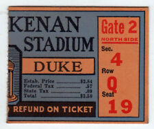 1950 DUKE UNC College Football Ticket NCAA North Carolina CHAPEL HILL Tar Heels