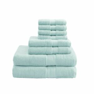 Luxury 8pc Seafoam 800GSM Long Staple Cotton Bath Towel Set