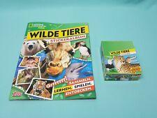 National Geographic Topps Wilde Tiere  Sticker Album + 1 x Display / 30 Tüten