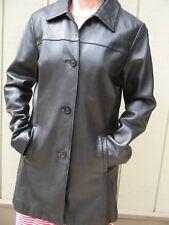 NICOLE MILLER Dark Brown Lamb Leather Coat Size M