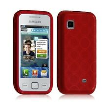 Housse coque Etui pour Samsung Wave 575 Hydrogel Couleur Rouge