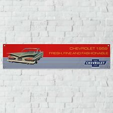 59 Chevrolet Vintage Banner Garage Workshop PVC Sign Track Display