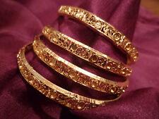 22K GOLD PLATED BANGLES SET OF 4 MEDIUM SIZE INDIAN WEDDING BOLLYWOOD