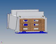 Pb100v palettenstaubox (full) for Carson Trailer m1:14 - 100/90 L X 46 H x 180 B